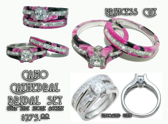 I So Want This Especially In Muddy Girl Camo Camo Wedding Rings Pink Camo Rings Camo Jewelry