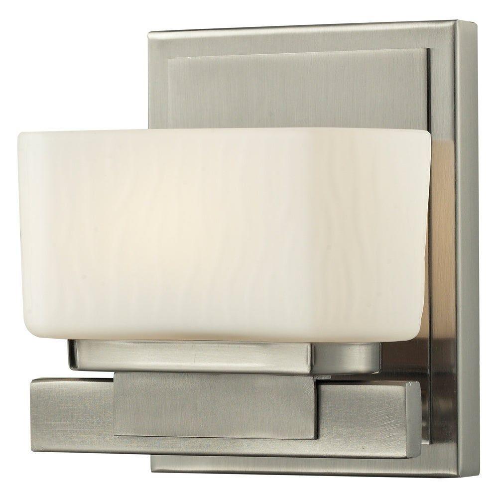 Photo of Avery Home Lighting Gaia 1-light basin lamp made of matt opal glass with brushed nickel