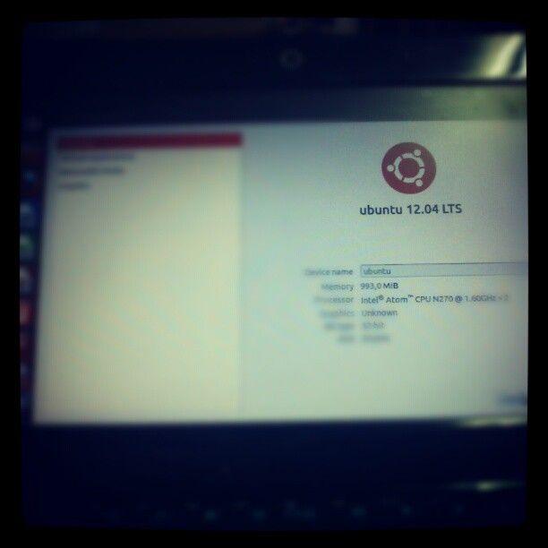 Instalé Ubuntu. Iba mejor q nunca y, a los pocos días, se me jodió la pantalla de mi netbook, ^^!