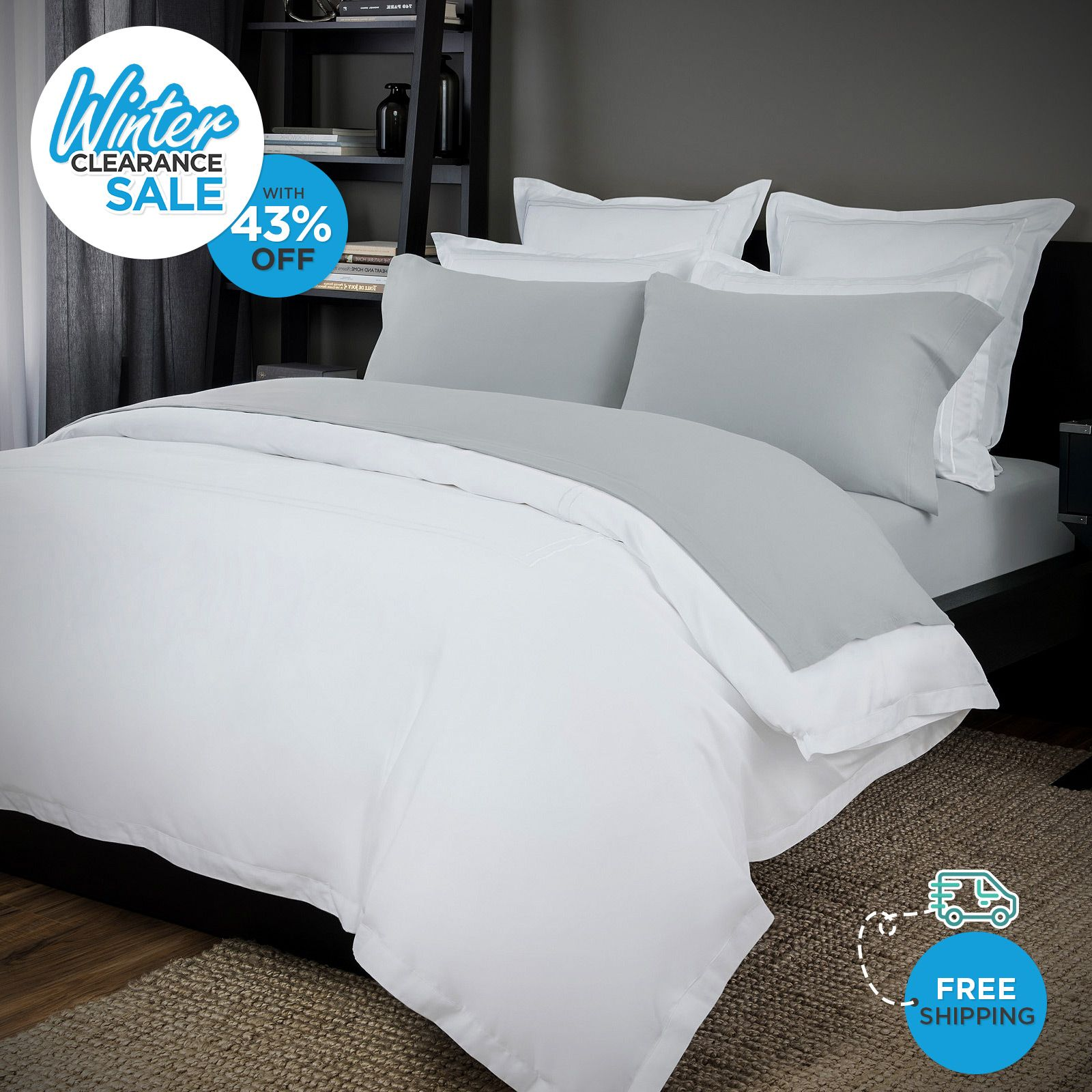Irresistibly Comfortable Bed Linen Available In 7 Different Shades. Buy Now  In As Low As