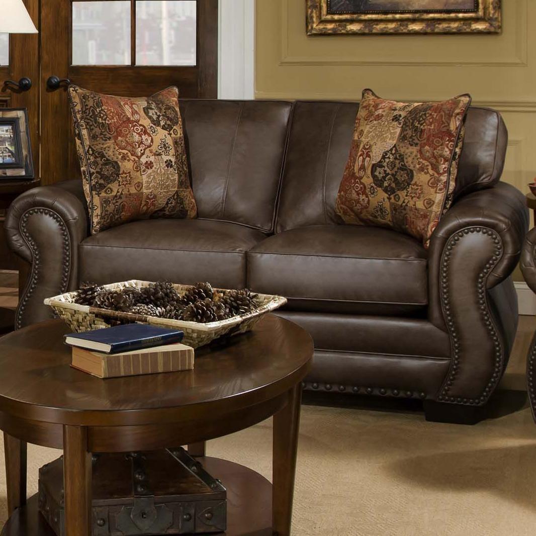 Loveseat w/ Nailhead Trim living room furniture
