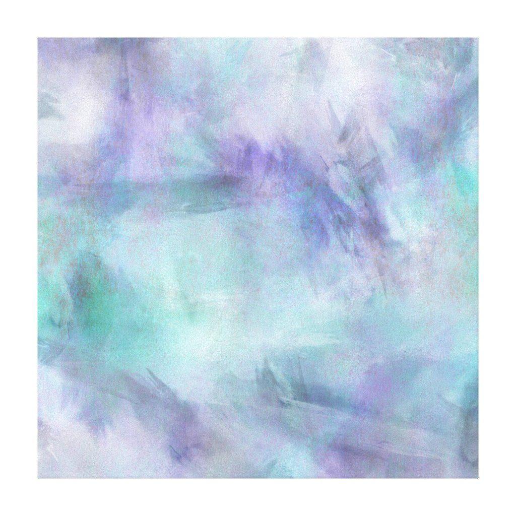 Pastel Blue Purple Watercolor Background Canvas Print