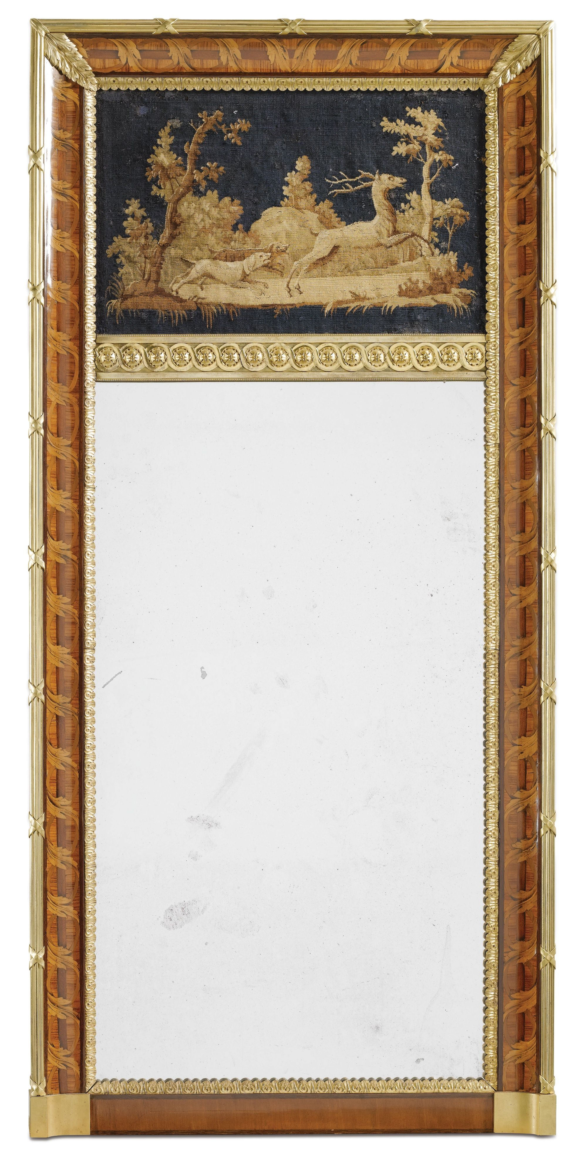 An Italian gilt-bronze-mounted tulipwood, amaranth, stained sycamore ...