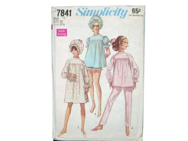 1960s Simplicity Pattern No.7841 Womens Pattern