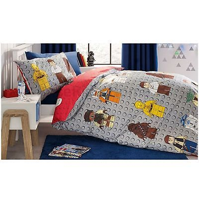 Lego BIEGE Cot BEDDING SET and CURTAINS