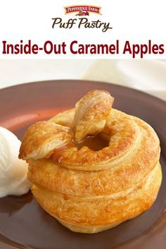 Inside-Out Caramel Apples - Puff Pastry