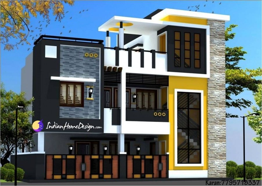 Modern Contemporary Style Two Floor Chennai Home