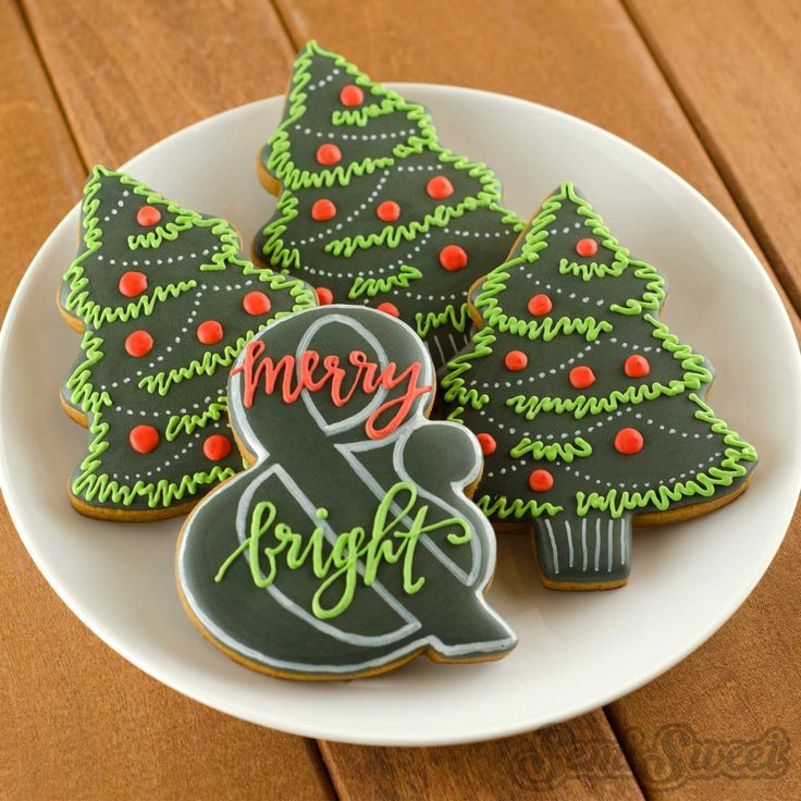 Ampersand Cookie Cutter and Template Christmas Cookies I love