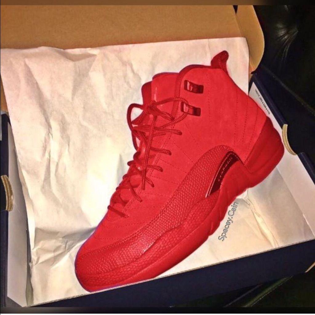 Deep Red 12s (Customed)   Jordan shoes