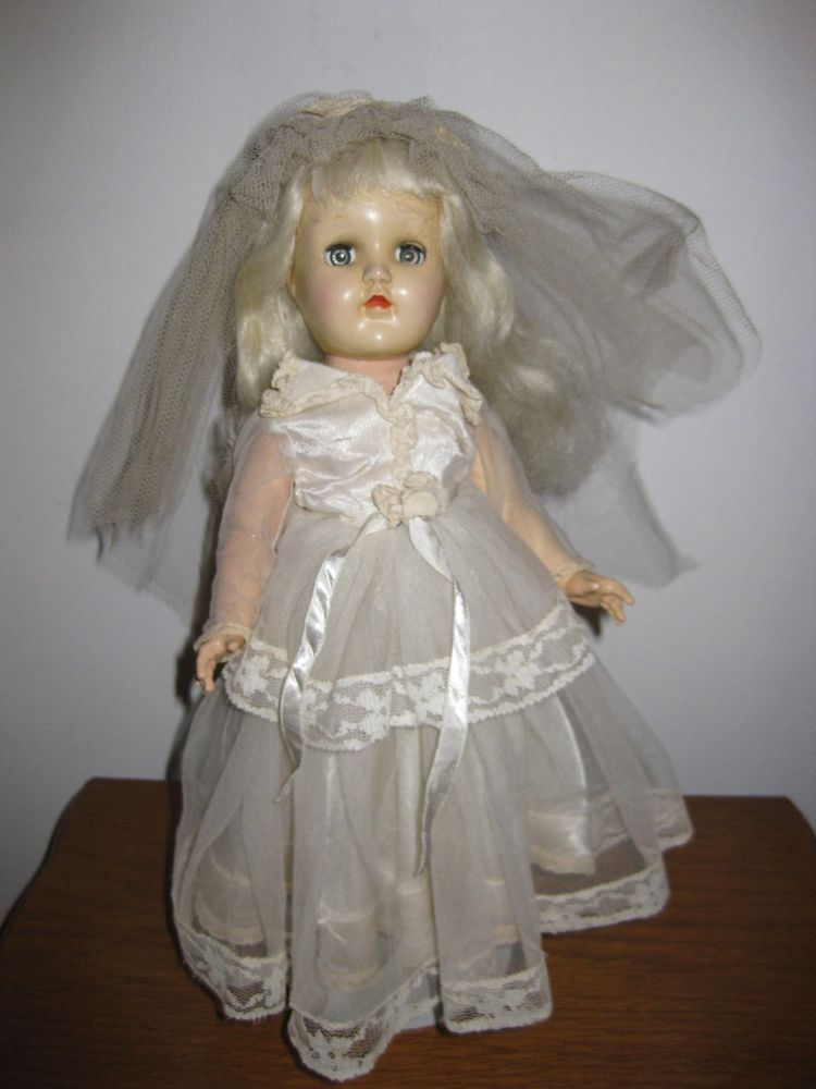 Vintage Ideal Toni Doll P 90 Platinum Blonde Hair 14 Inch