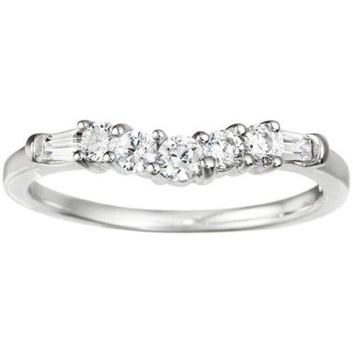 Delicate Slightly Curved Tracer Ring