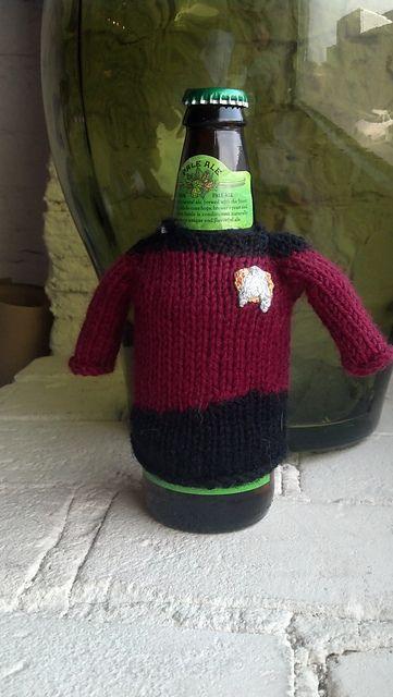 Ravelry Star Trek Next Generation Beer Cozy Pattern By Elizabeth