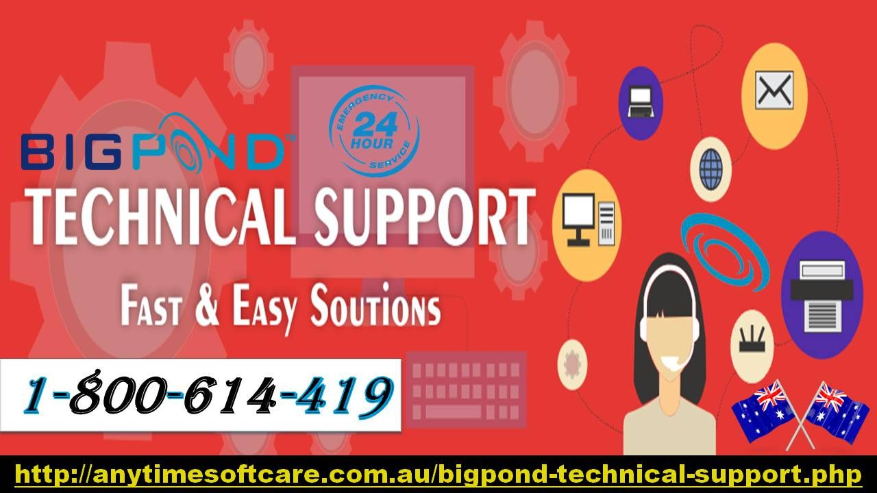 Bigpond Technical Support 1800614419 Email