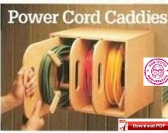 Extension cord organizer plan/power cord holder pl