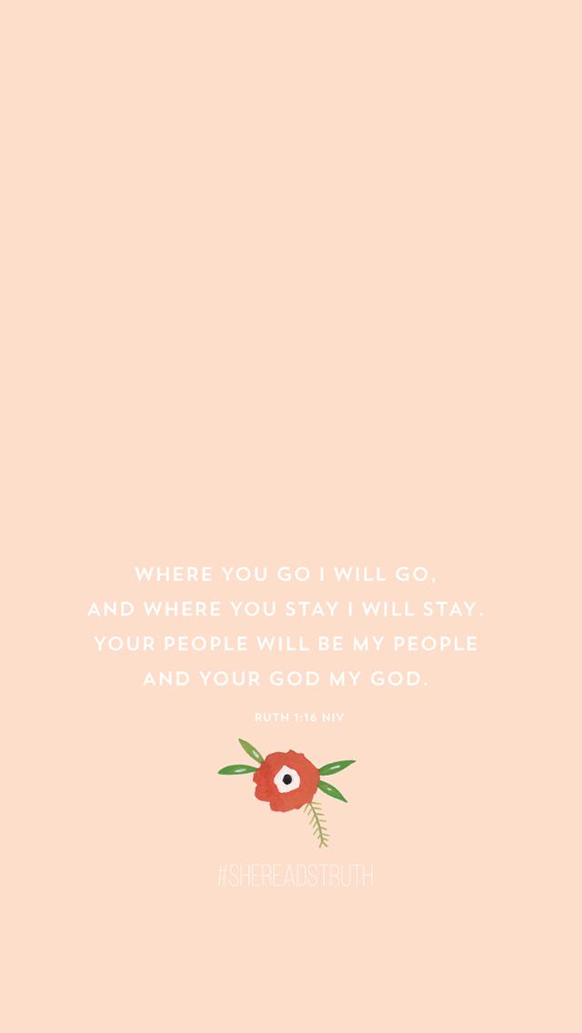 I am his... Ruth 1:16