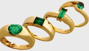 2a11de95ee96 Joyería El Jinete Azul Anillos de Oro con Esmeraldas