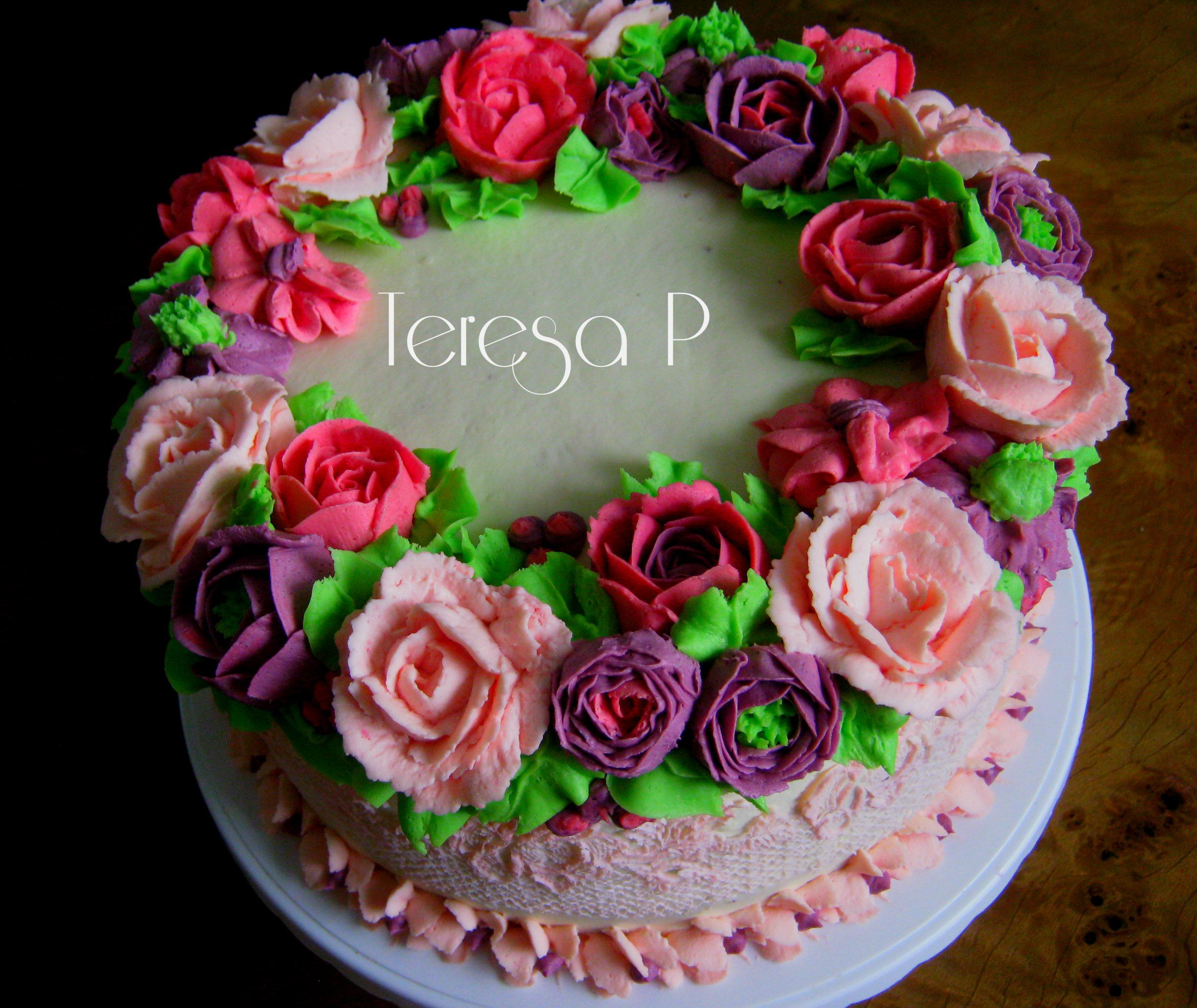 Kwiaty Z Masy Smietanowej I Maslanej Cake Birthday Cake Sweets