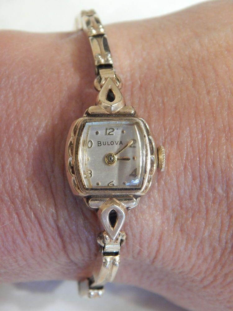 vintage antique bulova c119174 wrist 17