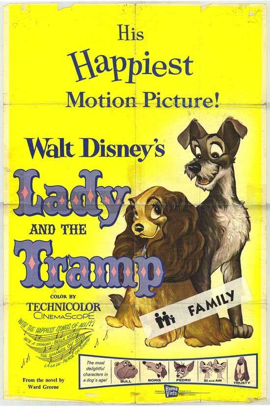 Lady And The Tramp Poster Lady And The Tramp Poster Original Movie Posters