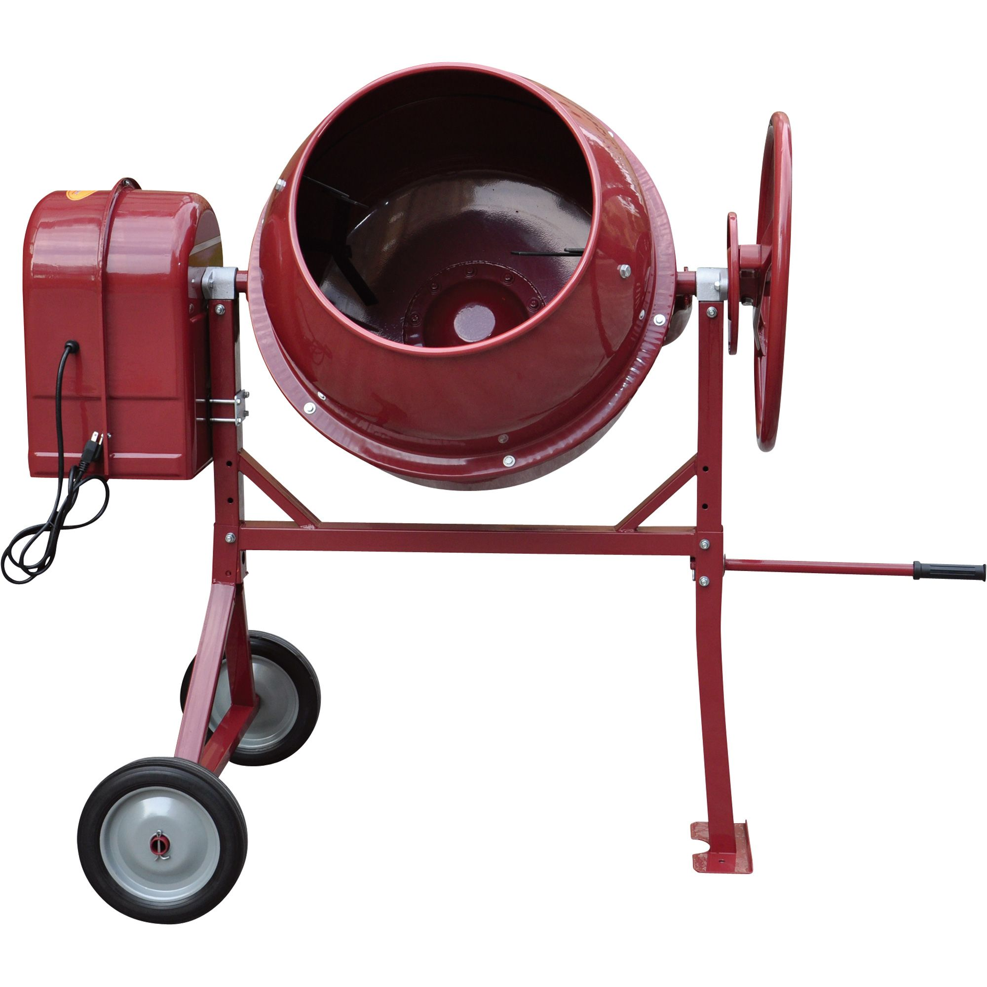 Northern Industrial Portable Electric Cement Mixer Total Drum Volume 4 10 Cubic Feet Wet Material Volume 1 94 Cubic Cement Mixers Construction Tools Tools