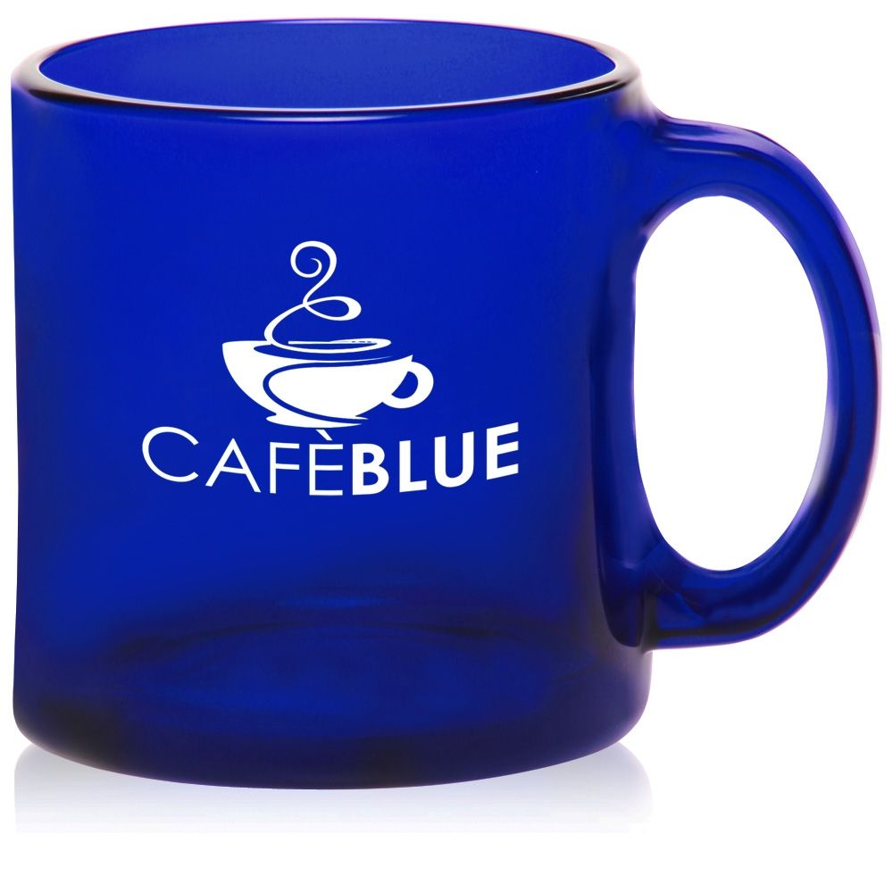 Blue Gl Coffee Mugs The Table