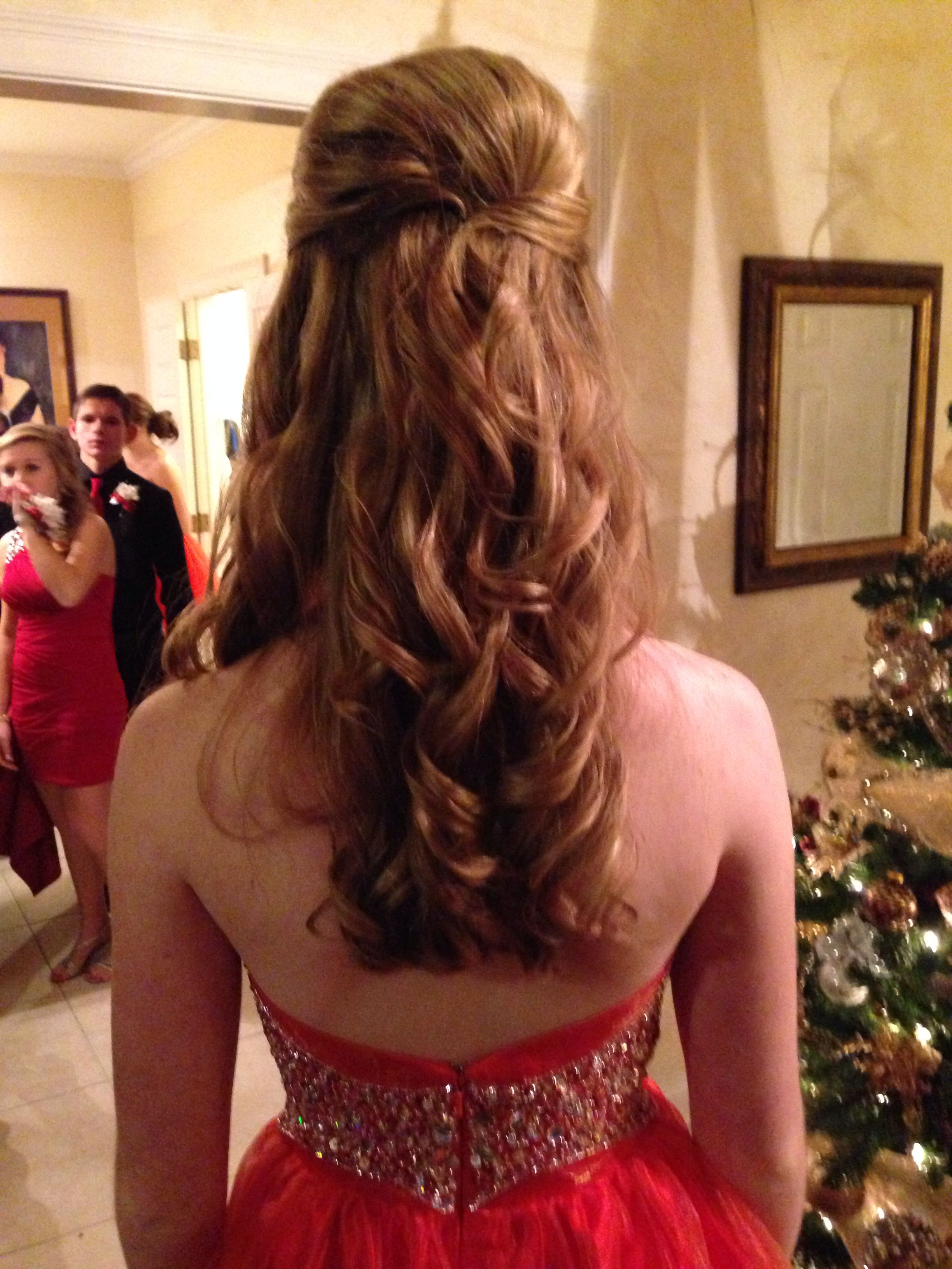 cute prom hair! loose curls & a bump! | cute hair | curly