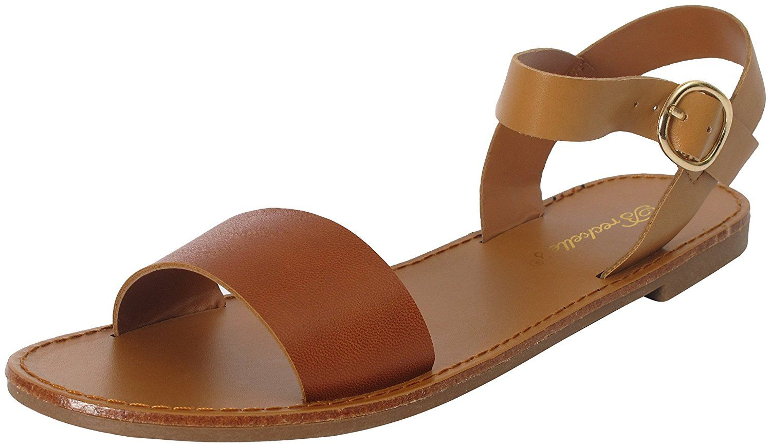 Breckelles Women's Kylee-13 Slingback Open Toe Flat Sandals >> Additional details at the pin image, click it  : Sandals
