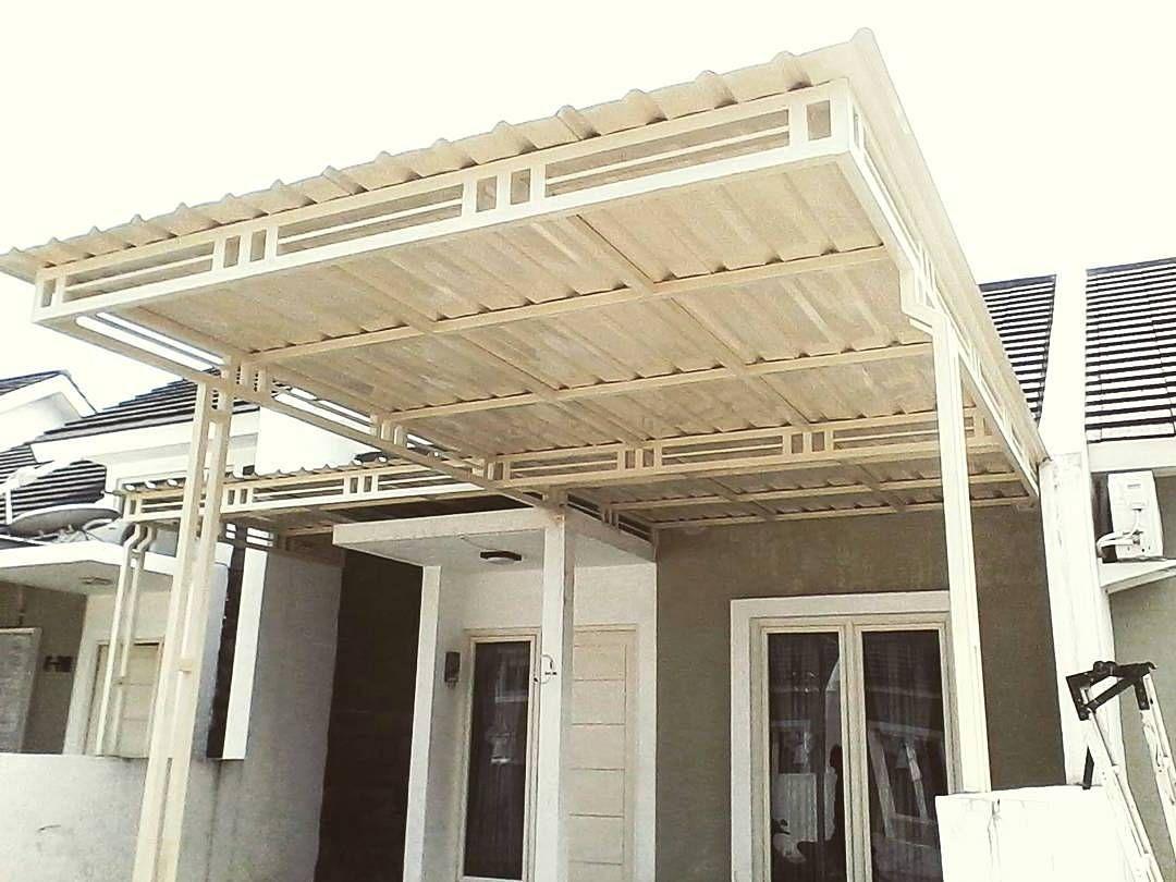 renovasi atap baja ringan rumah tipe 36 kanopi minimalis terbaru