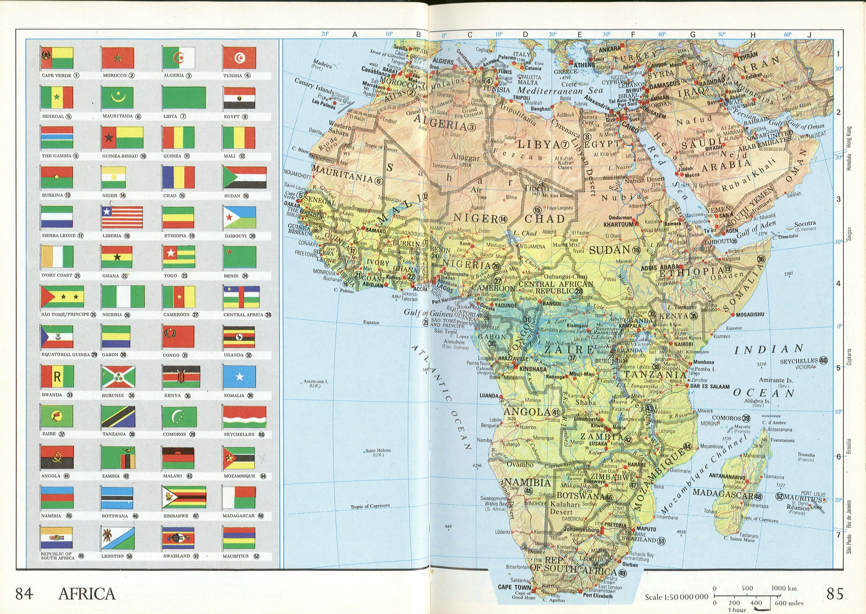 Africa Flag Map   Africa U2022 Mappery