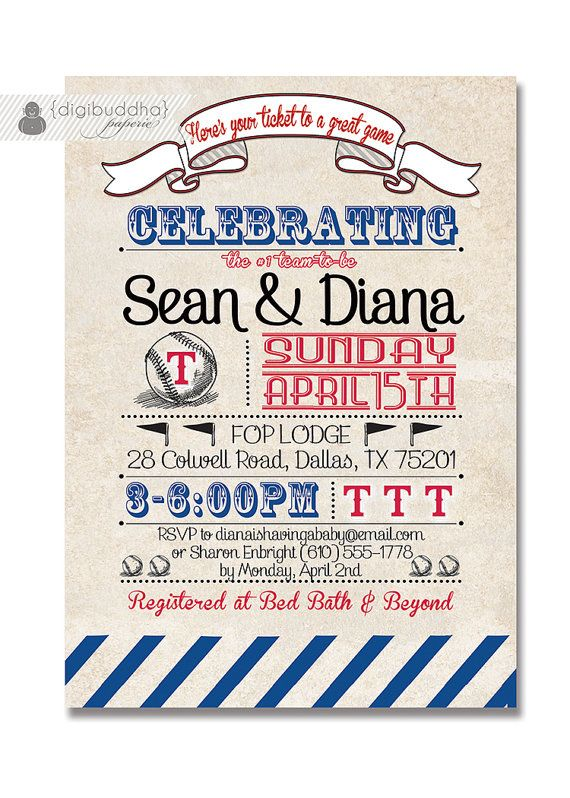 texas rangers couples shower invitation baseball wedding bridal shower vintage retro shower diy printable or printed diana style