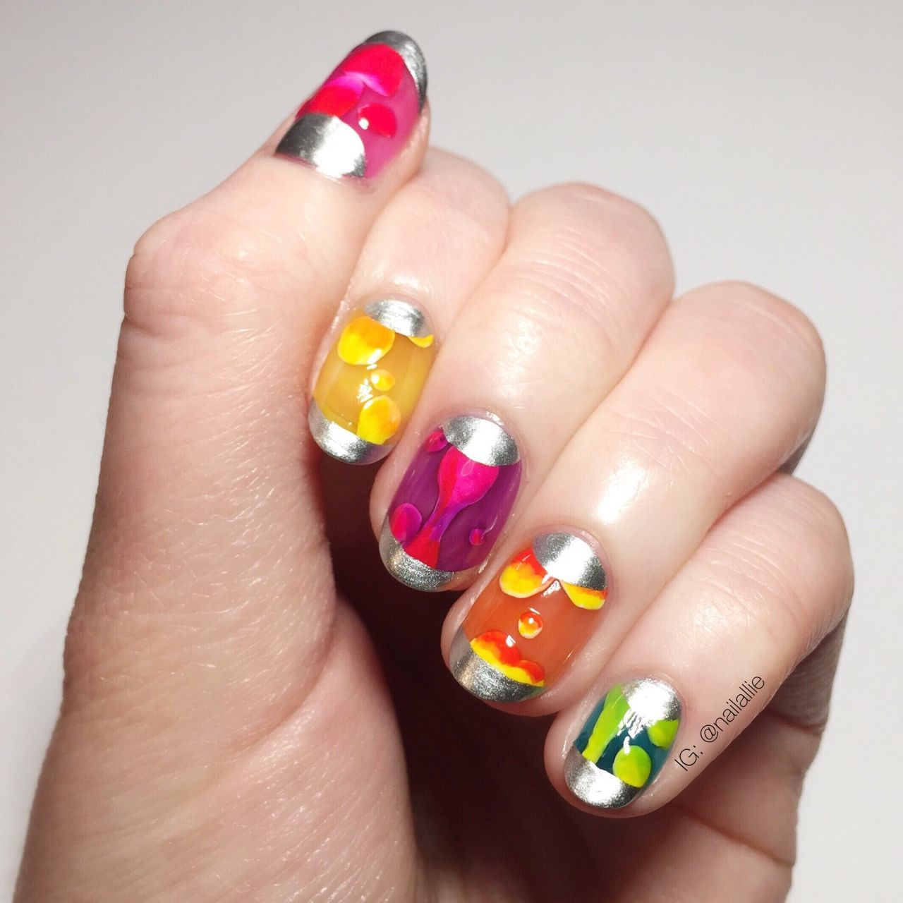 Pin by Sulfras on Nails | Pinterest | Lava lamp, Colourful nails and ...
