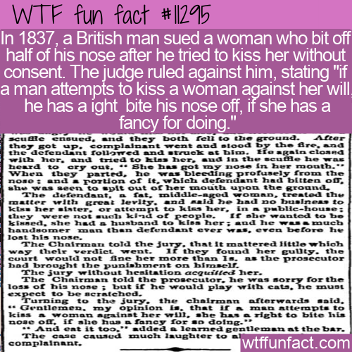 WTF Fun Fact - She Can Bite Your Nose Off