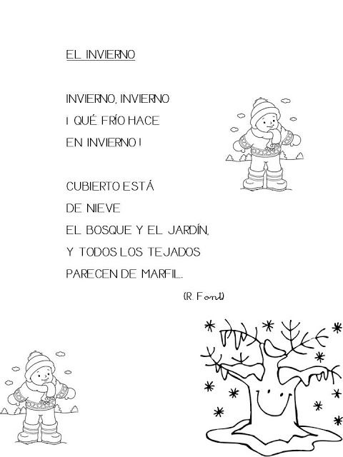 Trabajando En Educacion Infantil 10 Poesias Sobre El Invierno Poesia Invierno Espanol De Escuela Primaria Poemas Infantiles