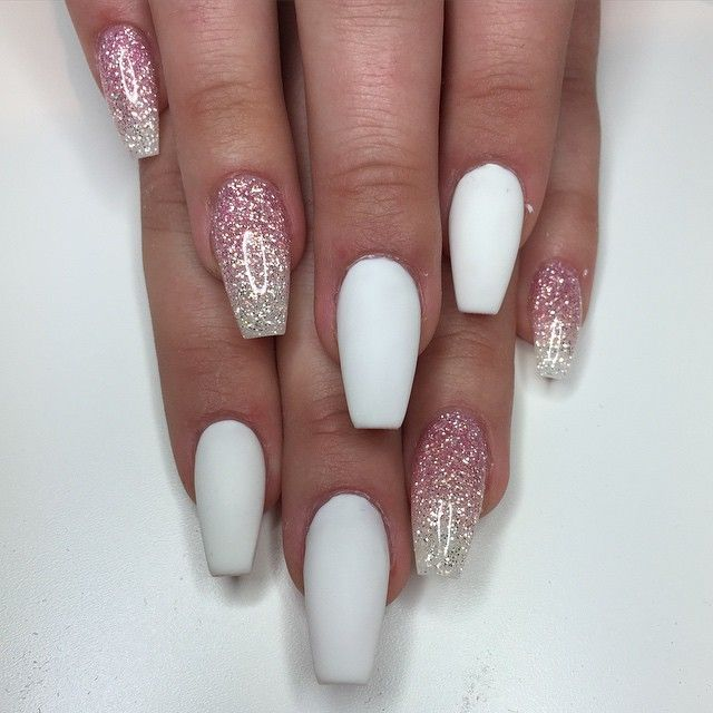 Christmas Acrylic Nails Coffin Shape: Coffin Shaped Nails
