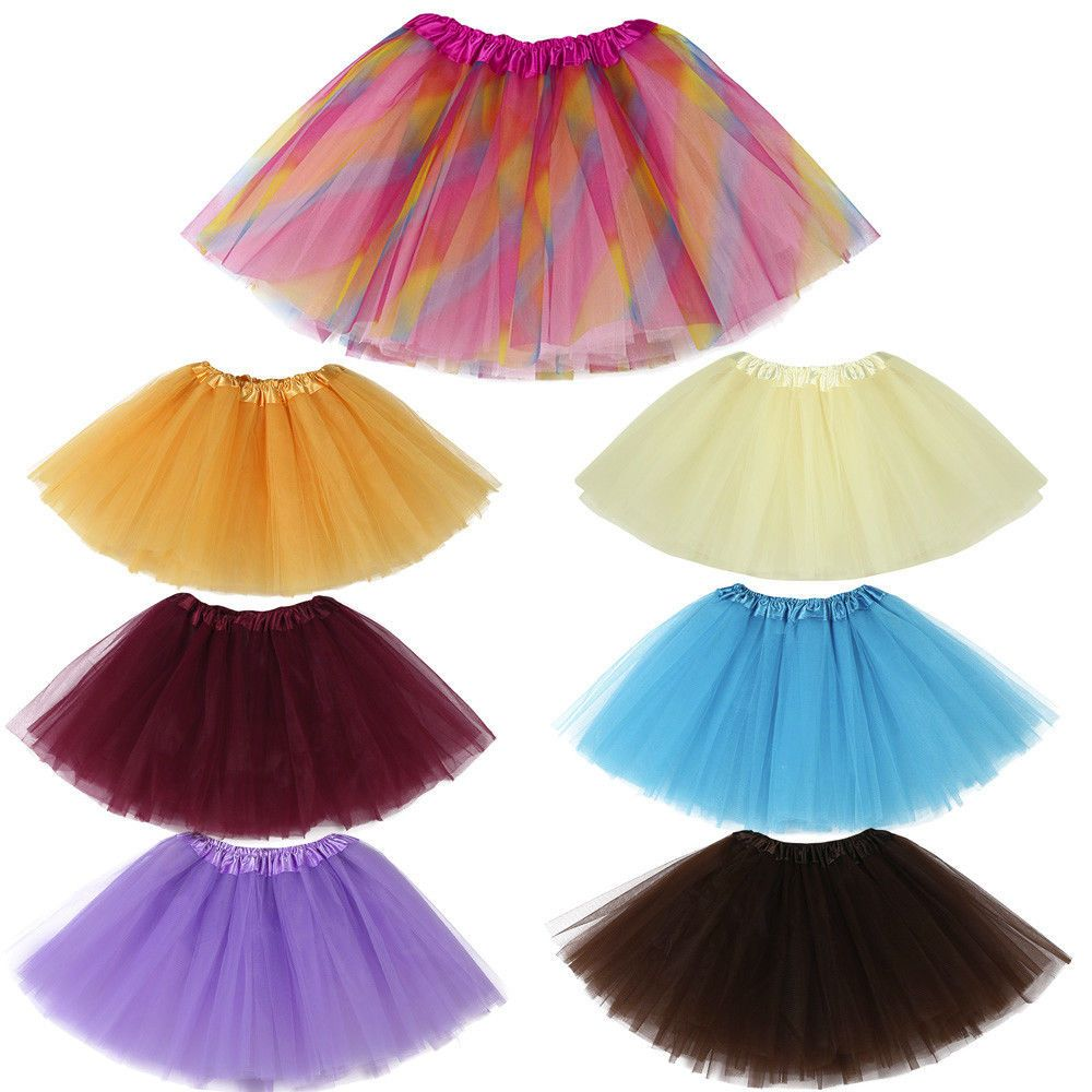7864596693af  1.36 - Baby Girls Kids Princess Tutu Ballet Dance Skirts Fancy ...