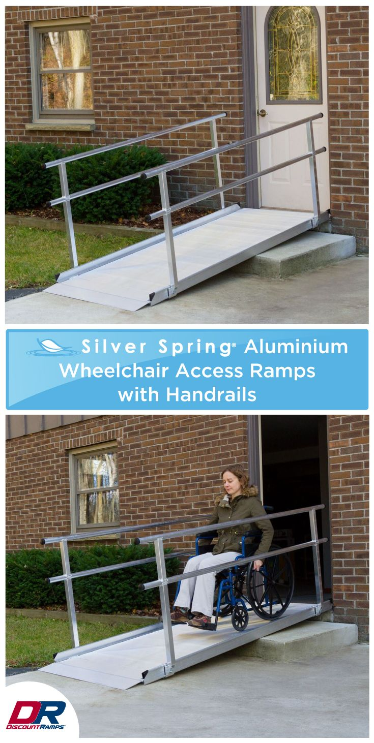 Silver Spring Aluminum Wheelchair Access Ramps with Handrails ...