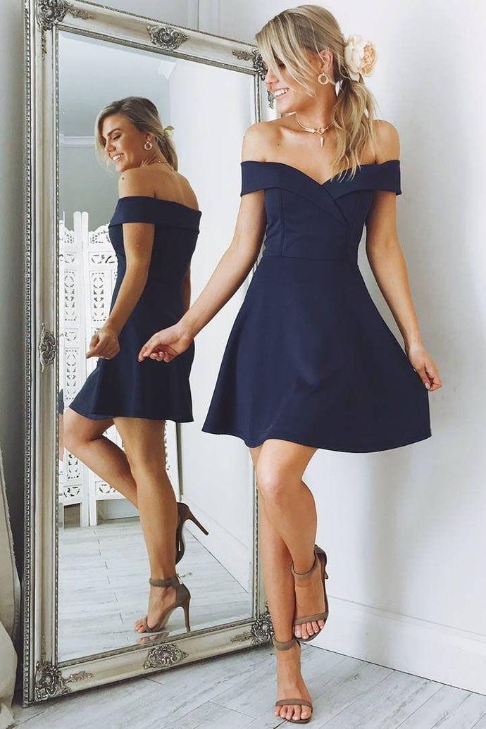 A-line Sweetheart Short Prom Dress,Knee Length Homecoming Dress