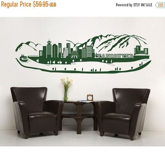 20 off fall sale vancouver skyline wall decal sticker mural vinyl wall art