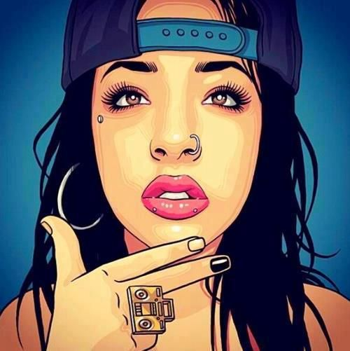 pinterest  @guapodestinie Dope Art Tumblr, Swag Girls, Chola Girl, Comic,