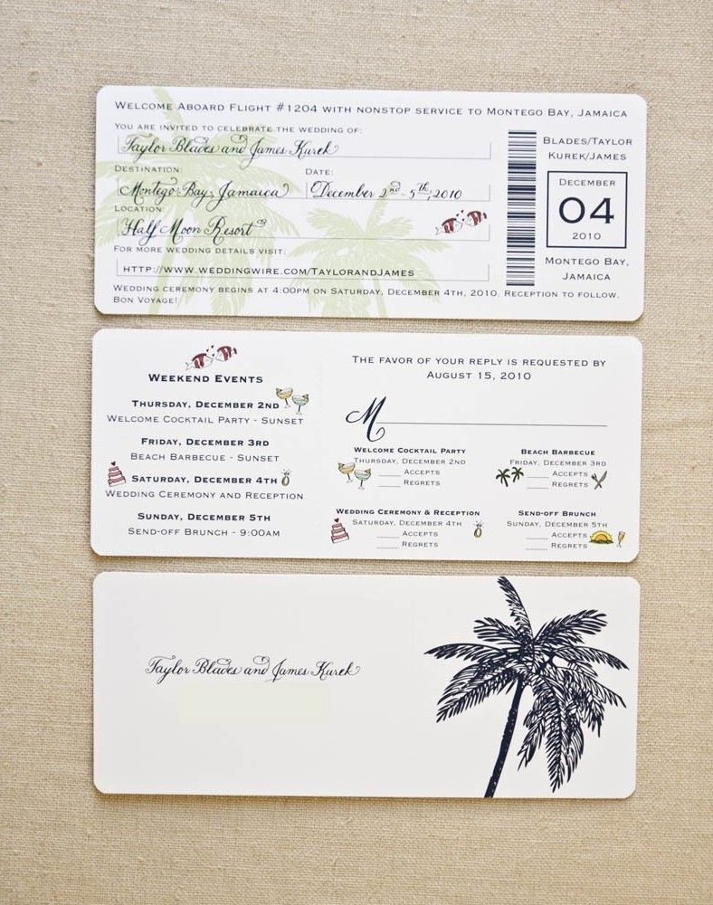 Image for boarding pass wedding invitation template | Our Dream ...