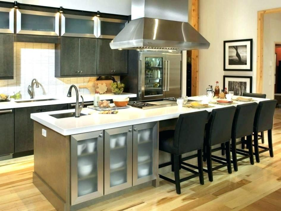 Image Result For Kitchen Island Dining Table Hybrid Kitchen