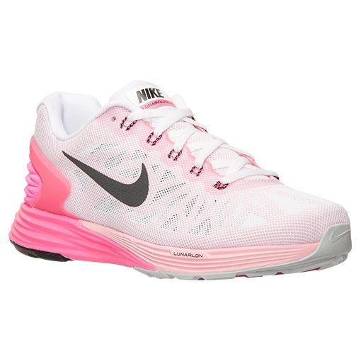Women's Nike Lunarglide 6 Running Shoes - 654434 106 | Finish Line | White/ Black