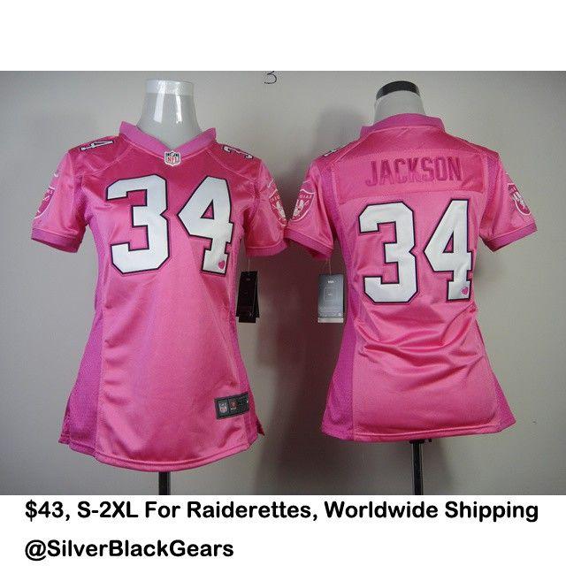 Bo Jackson Pink Raiders Jersey For Ladies. Contact For More Details.  Kik SilverBlackGears b565348b0
