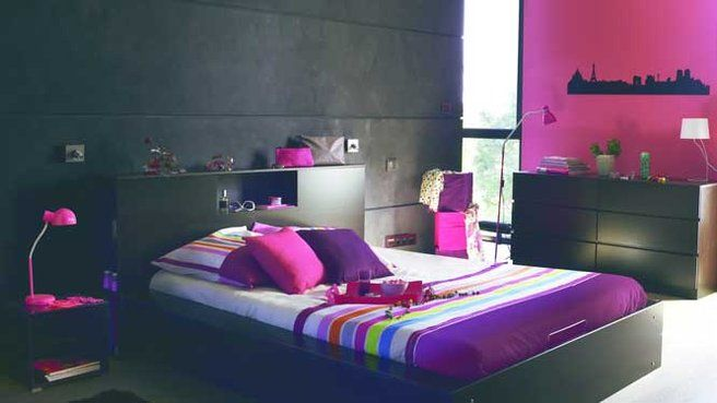 J\'aime cette photo sur Deco.fr ! Et vous ? | Chambres noires roses ...