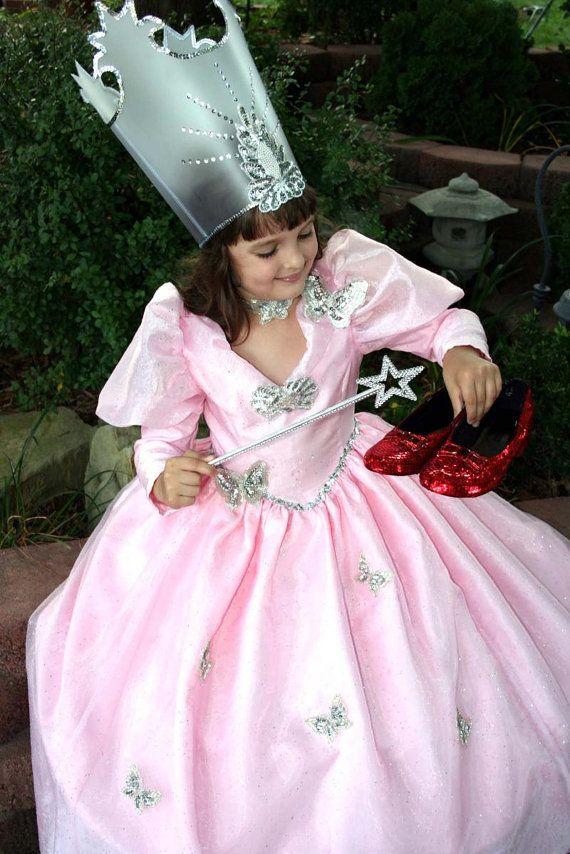 AMAZING Wizard of Oz GLINDA the GOOD Witch Costume Set Child Sz ...