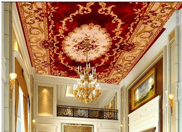3d wall murals wallpaper europe style wallpapers for for Ceiling mural wallpaper