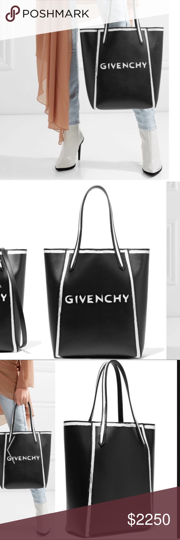 2c936062de10 Givenchy Stargate printed leather tote Brand new No Box! - Black and white  leather (