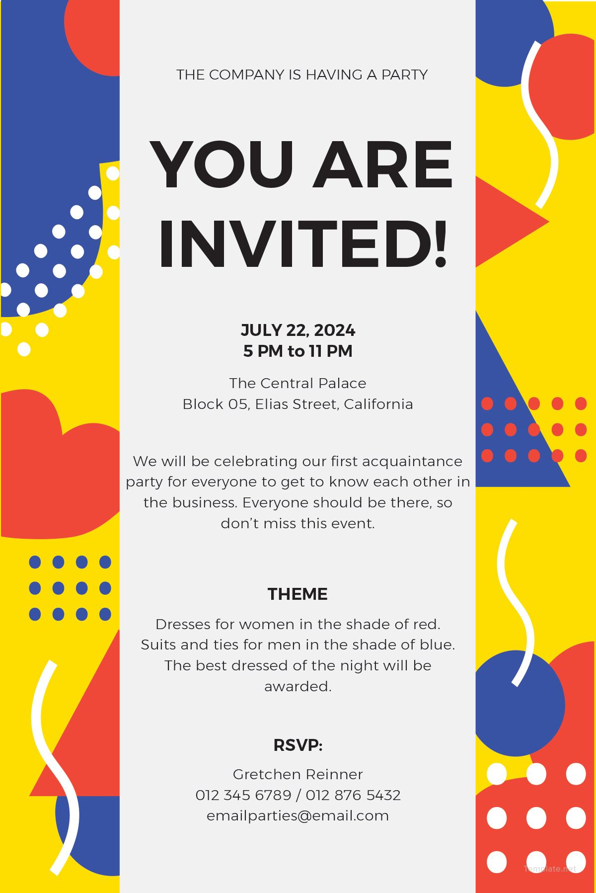 FREE Email Party Invitation Template - Word (DOC)  PSD  InDesign