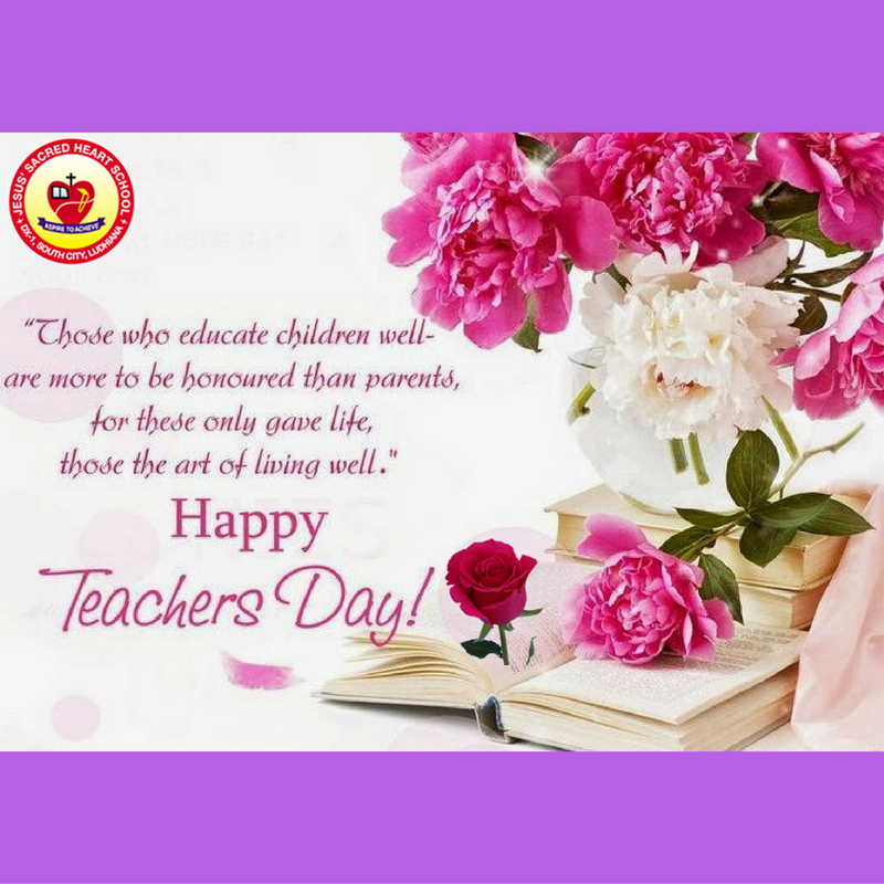 The Entire School Echoed With Happy Teachers Day Wishes Of The Students For Thei Happy Teachers Day Wishes Happy Teachers Day Card Teachers Day Greetings