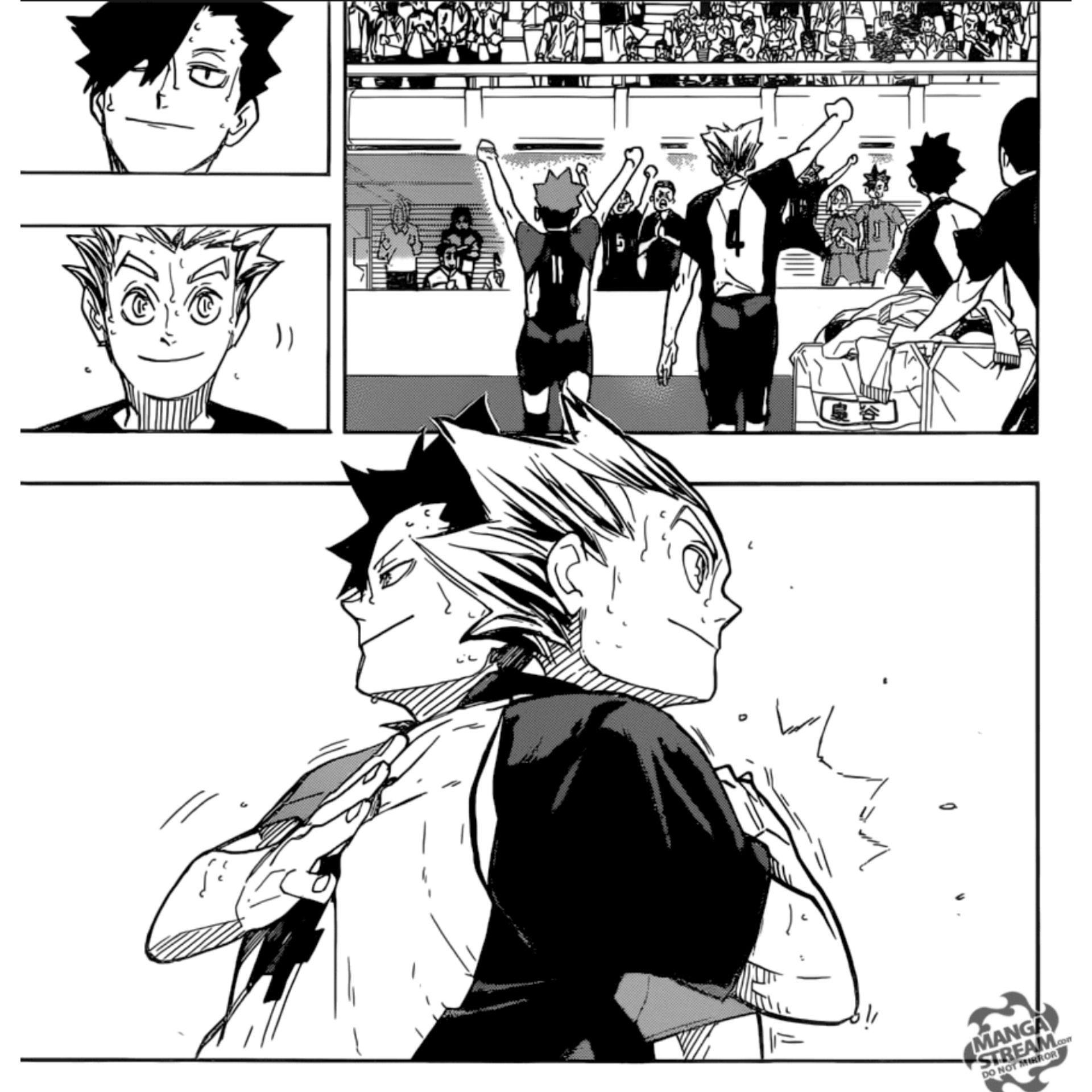 haikyuu manga panels bokuto